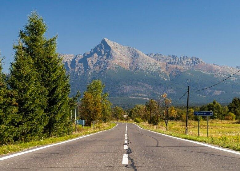 Straße in der Slowakei