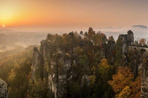 Die Basteibrücke des Elbsandsteingebirges