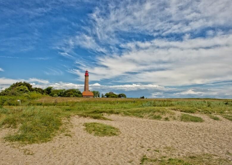 Leuchtturm am Strand Flügger auf Fehmarn