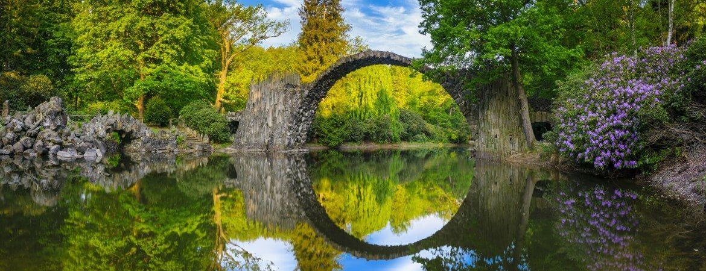 Die Rakotzbrücke in Kromlau bei Gablenz