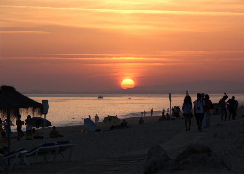 Faros Traumstrand, der Praia de Faro