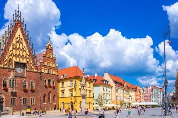 Markplatz von Breslau in Polen