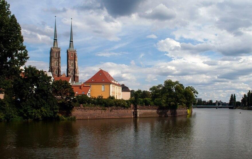 Die Oder in Breslau