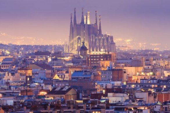 Blick über die katalanische Hauptstadt Barcelona