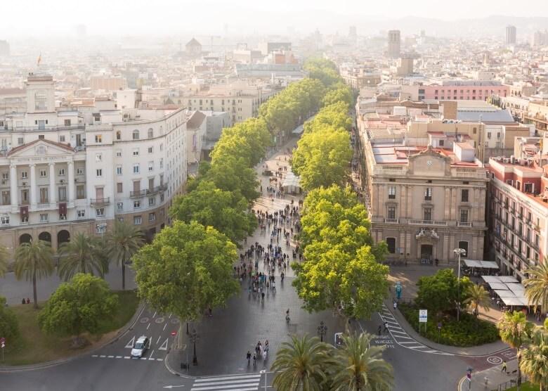 "Flaniermeile ""La Rambla"" im Herzen Barcelonas"