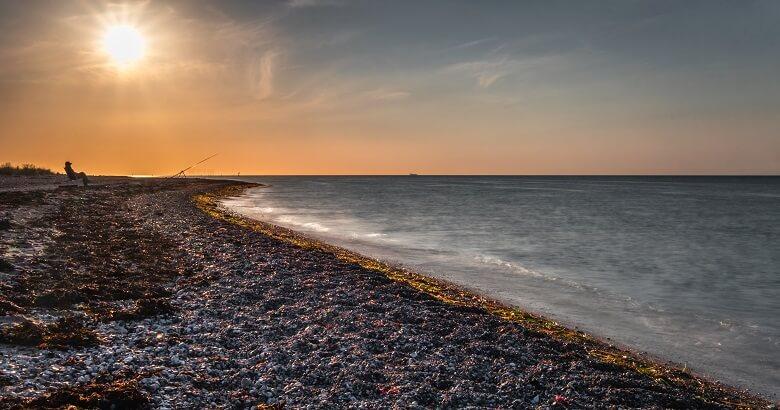 Der Gammendorfer Strand bei Sonnenuntergang ist wunderschön