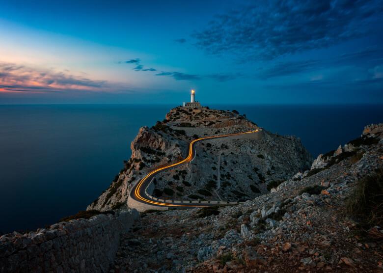 Cap Formentor bei Sonnenuntergang