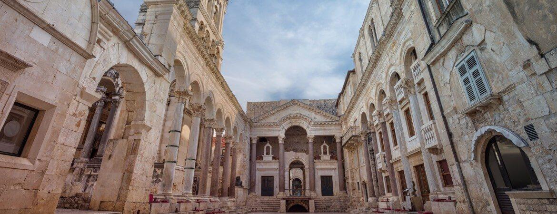 Der Diokletianpalast in der kroatischen Stadt Split