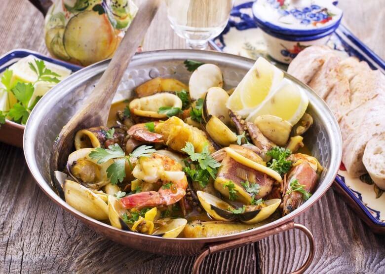 Amêijoas na cataplana, ein besonderes portugiesisches Essen