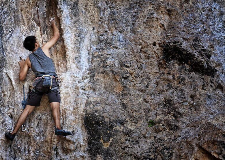 Verspricht viel Abenteuer: Klettern am Tonsai Beach