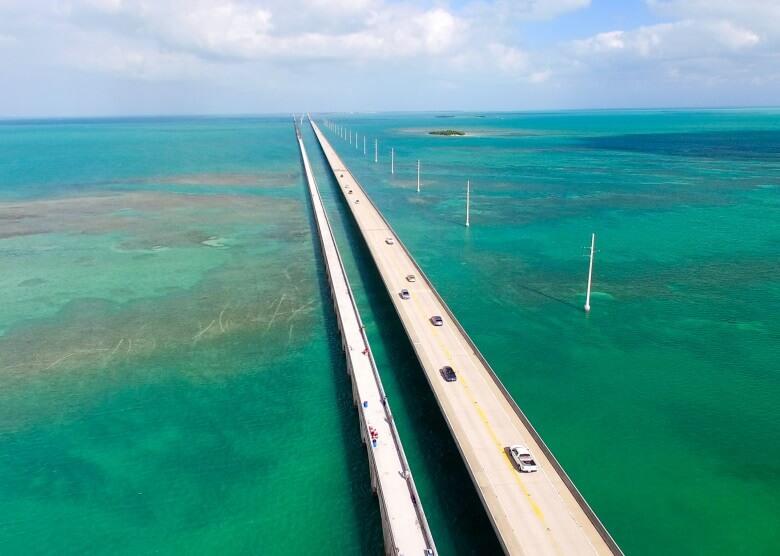 Brücke zwischen den Florida Keys