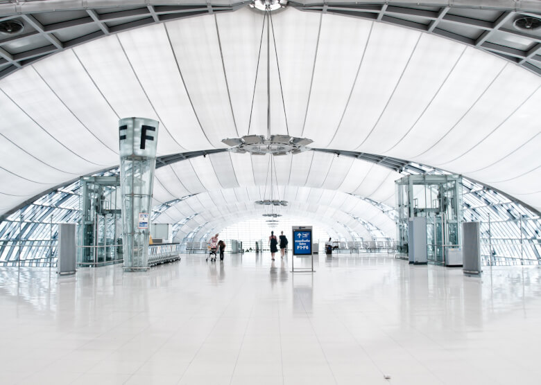 Terminal F des Bangkok International Airport
