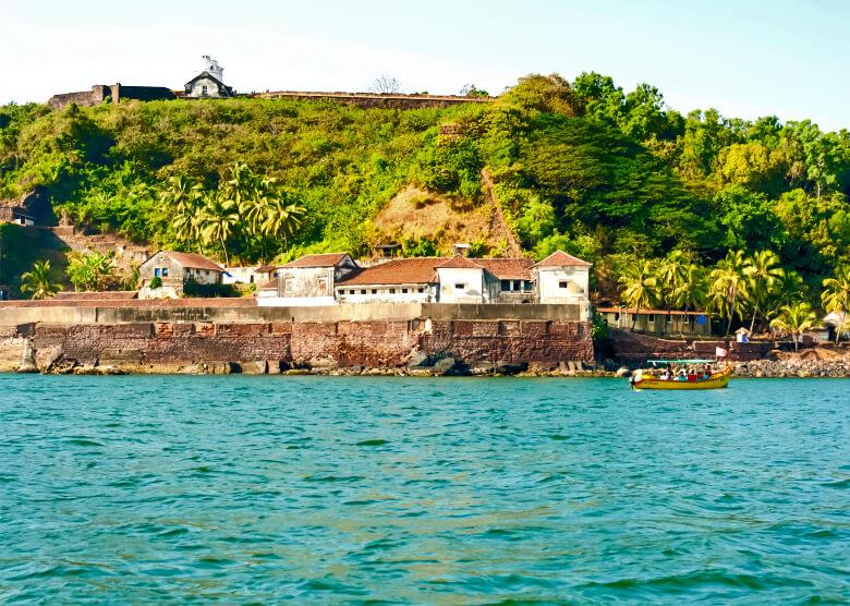 Das portugiesische Fort Aguada in Goa