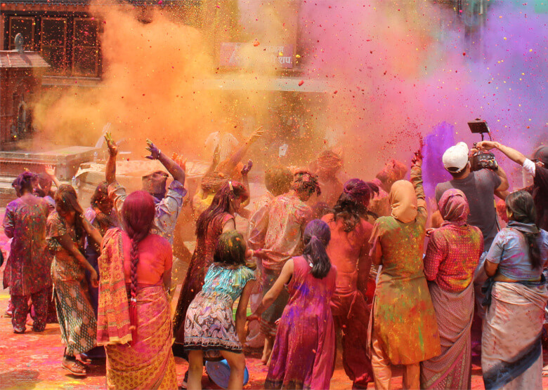 Holi-Fest in Indien