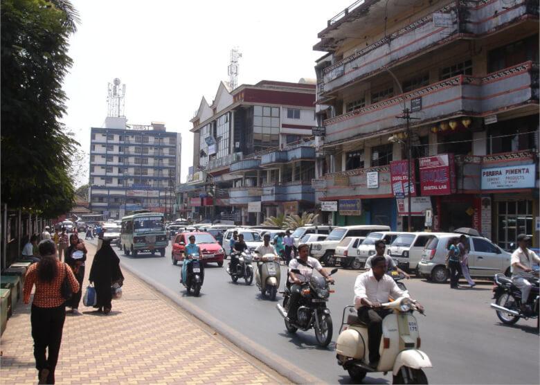 Straßenszene in Margao