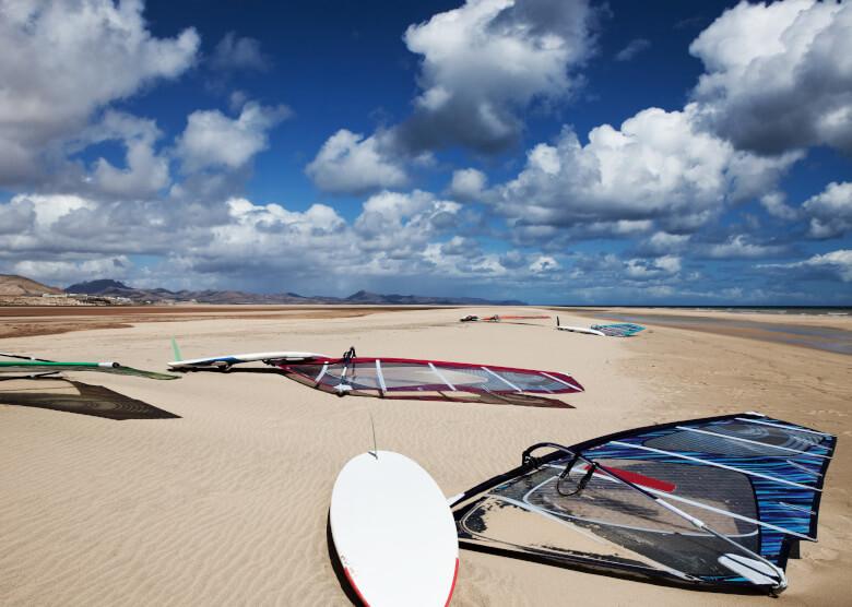 Surfbretter am Strand Risco del Paso