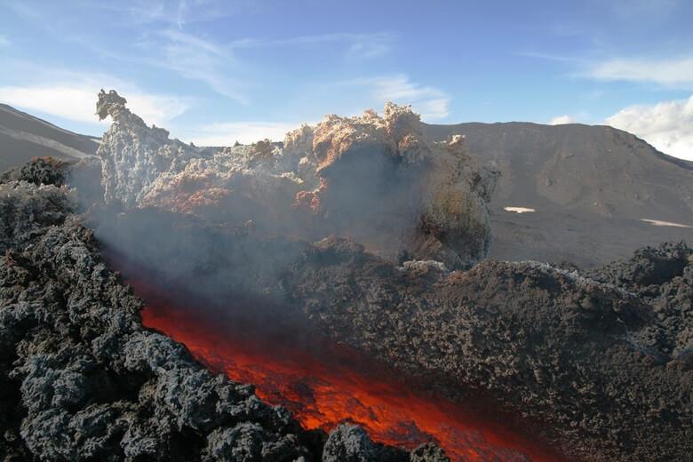 Vulkanausbruch auf dem Ätna auf Sizilien