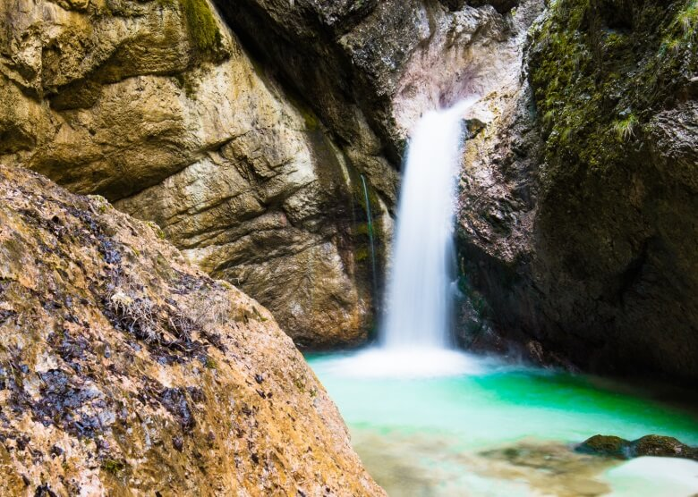 Wasserfall Almbachklamm im Berchtesgadener Land
