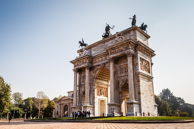 Der Arco della Pace in Mailand im Sempione Park