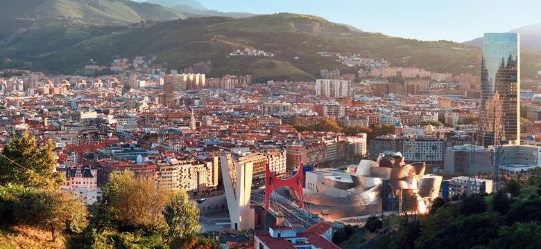 Blick über Bilbao in Nordspanien