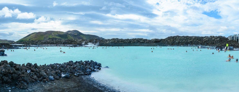 Blick über die Blaue Lagune in Island