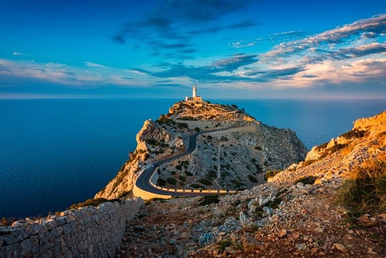 Blick auf Cap Formentor auf Mallorca
