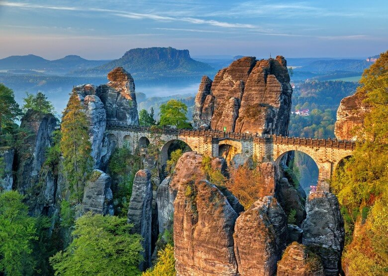 Basteibrücke im Sandsteingebirge