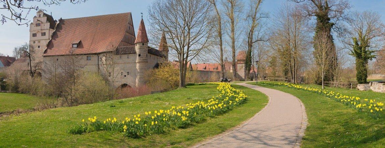 Altstadt von Dinkelsbühl in Franken, Deutschland
