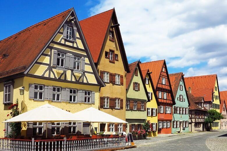 Häuser in der Altstadt von Dinkelsbühl, Deutschland