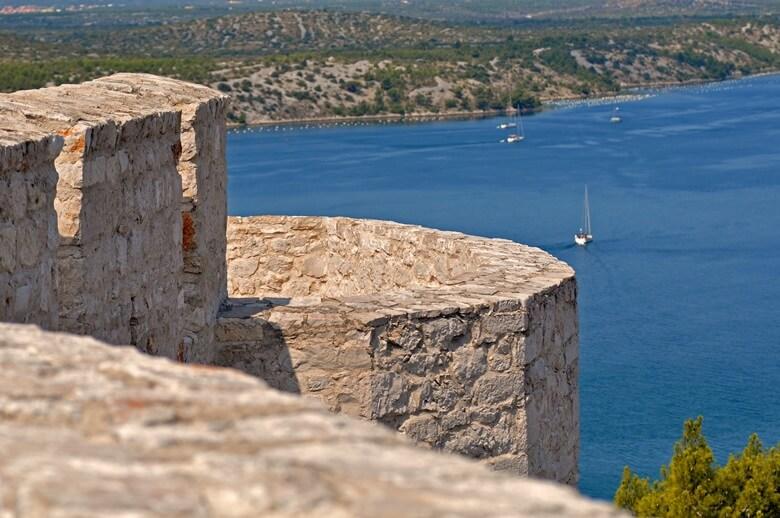 Ausblick von Festung auf Sibenik in Kroatien