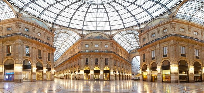 Galleria Vittrio Emanuele II in Mailand, Italien