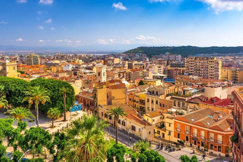 Die Stadt Cagliari auf Sardinien