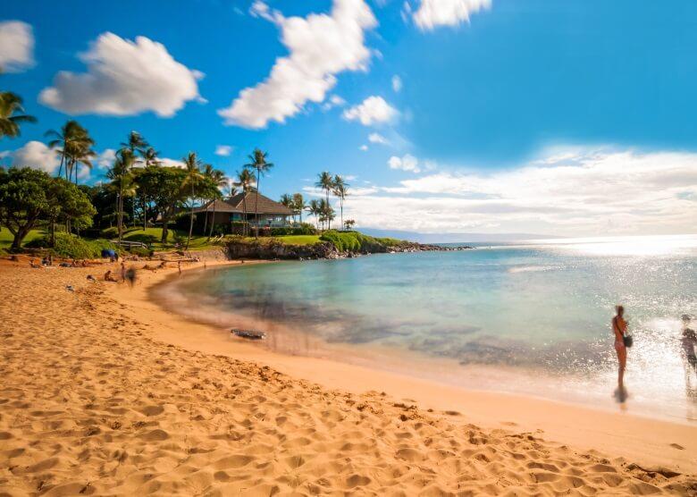 Kaanapali Beach auf der Insel Maui in den USA