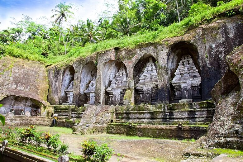 Königsgräber von Gunung Kawi in hindistischer Tempelanlage auf Bali