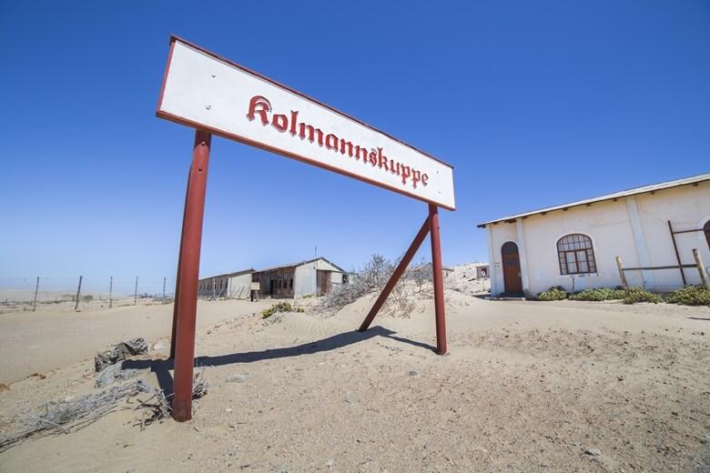 Eingang zu Kolmannskuppe in Namibia