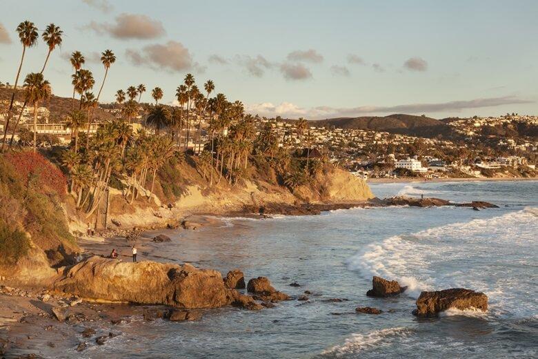 Küste am Laguna Beach in Kalifornien, USA