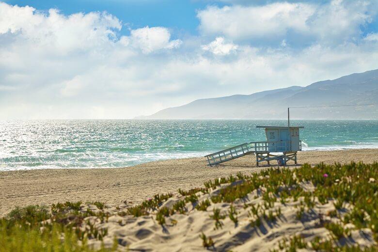 Promistrand Malibu in Kalifornien, USA