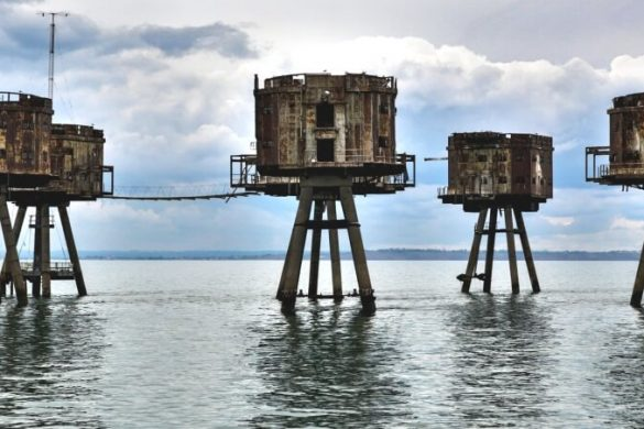 Maunsell Forts vor Englands Küste bei Whitstable