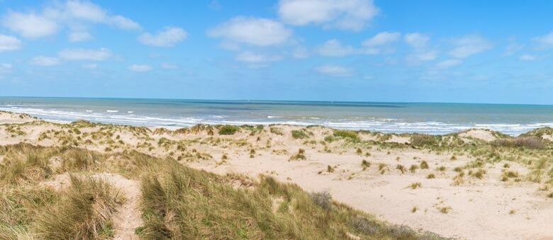 Strand von Middelkerke in Belgien