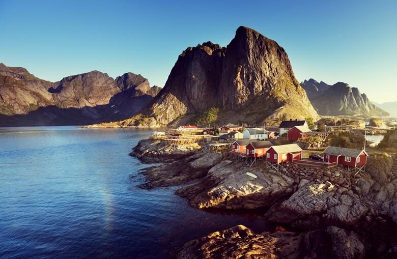Das Fischerdorf Reine auf den Lofoten