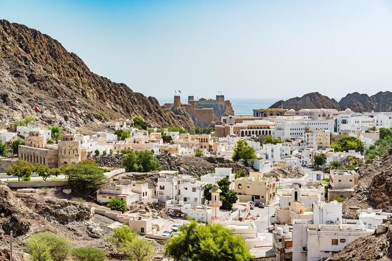 Die Altstadt von Muscat bietet viele Sehenswürdigkeiten
