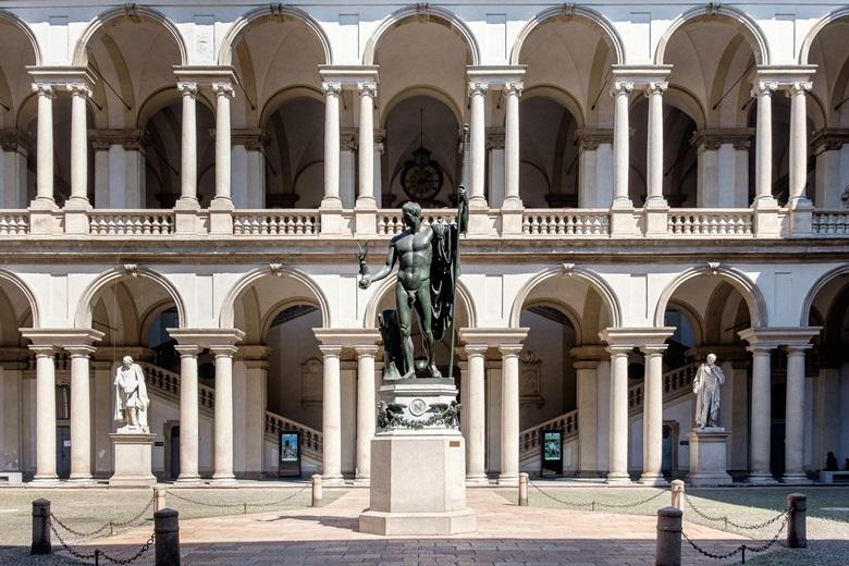 Palazzo di Brera mit Pinakothek in Mailand,Italien