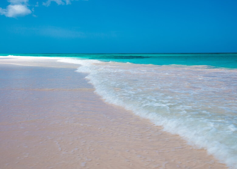 Pink Sand Beach auf den Bahamas