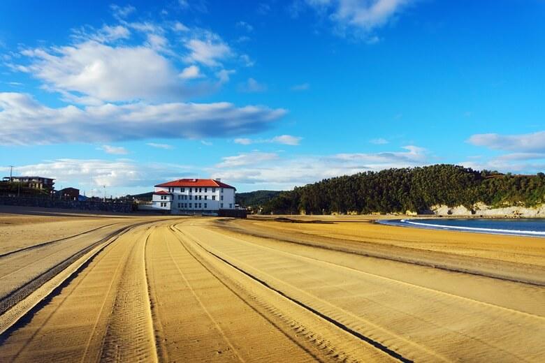 Playa de Plentzia in der Nähe von Bilbao, Nordspanien