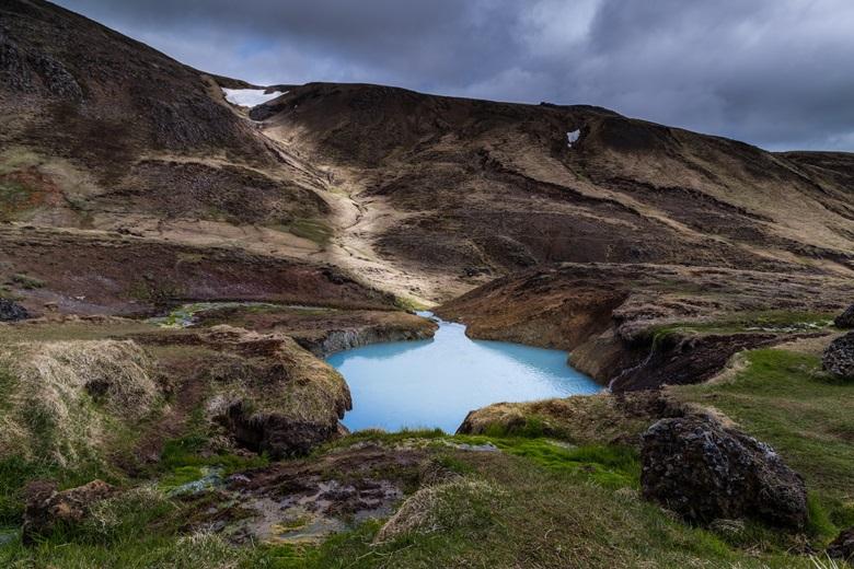 Heiße Quelle in Reykjadalur, Island