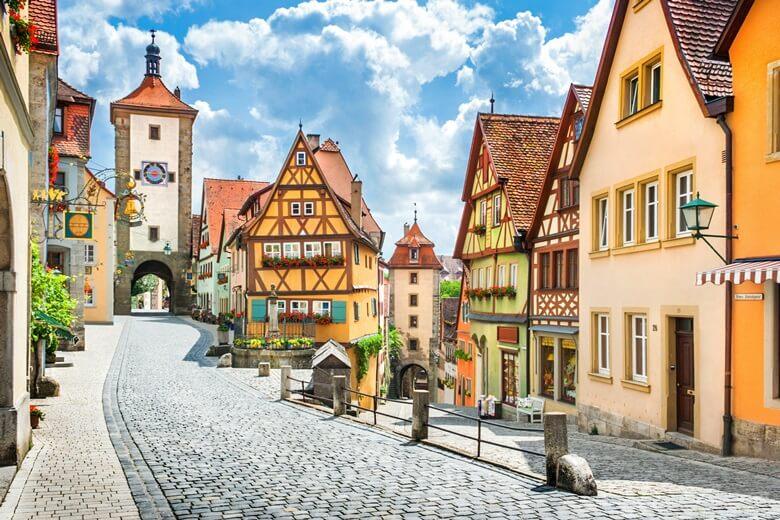 Romantische Straße in Rothenburg ob der Tauber, Deutschland