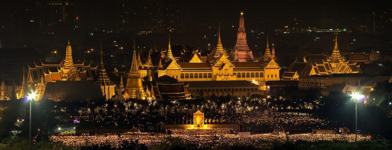 Blick auf den Königspalast in Bangkok