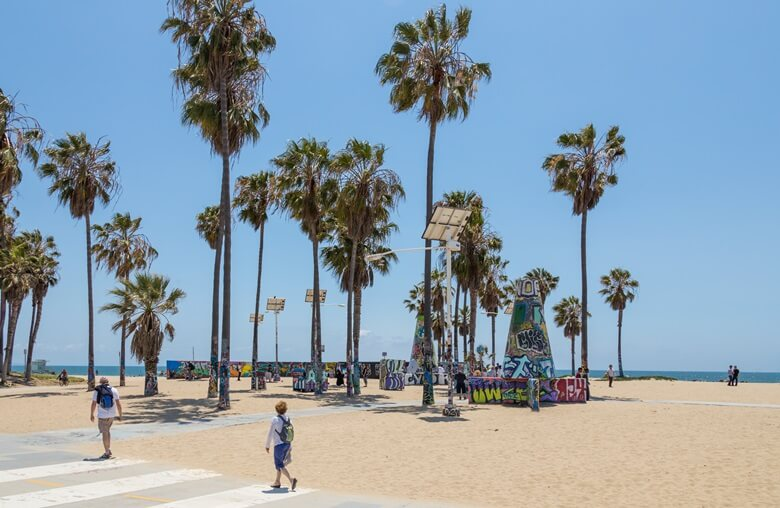 Venice Beach in Los Angeles, Kalifornien