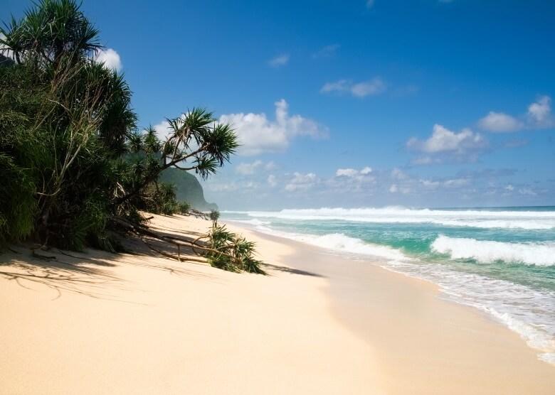 White Sand Beach auf Bali, weißer Sandstrand bei Padang Bai