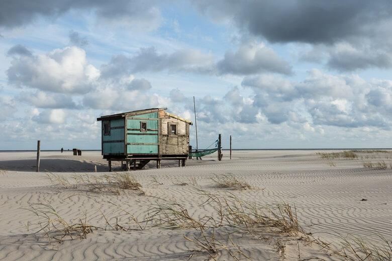 Hütte am Wittdün Hauptstrand auf der Nordseeinsel Amrum
